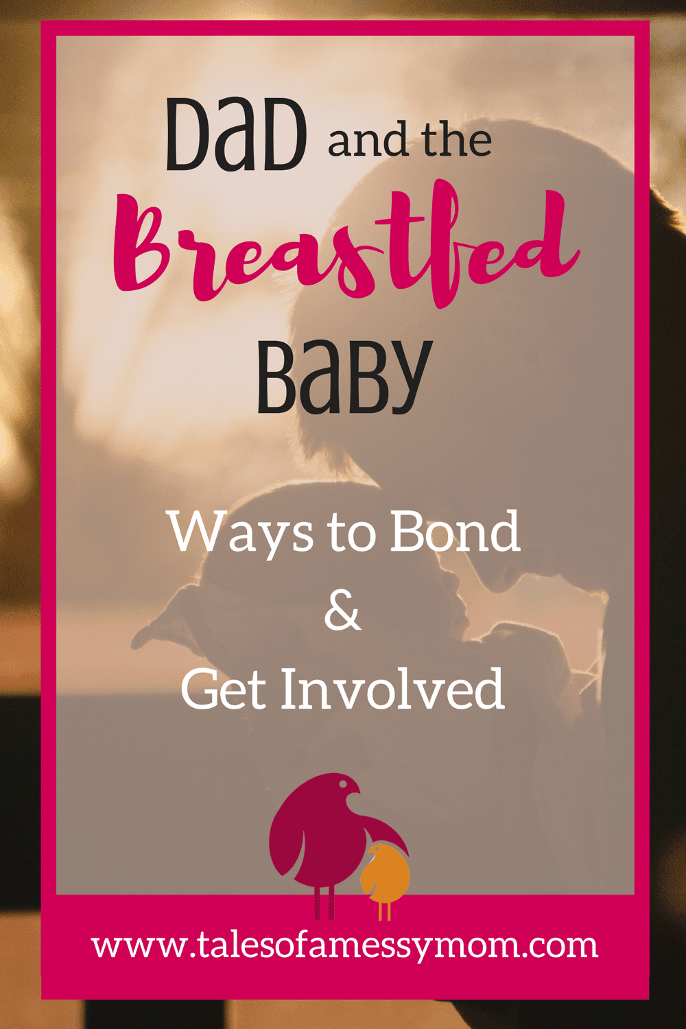 Dads can often feel left out, especially if baby is breastfed. Take some helpful hints and tips from a new dad on how he bonded with baby and got involved with the breastfeeding process. http://www.talesofamessymom.com